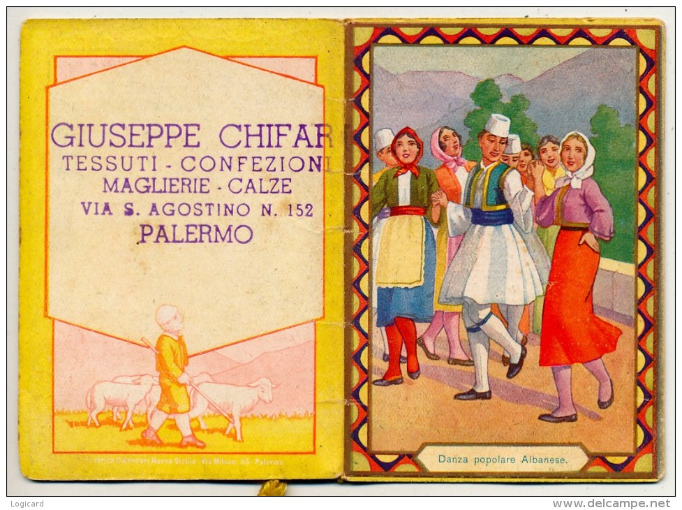 PALERMO - PICCOLO CALENDARIO ALBANIA 1942 - Calendari