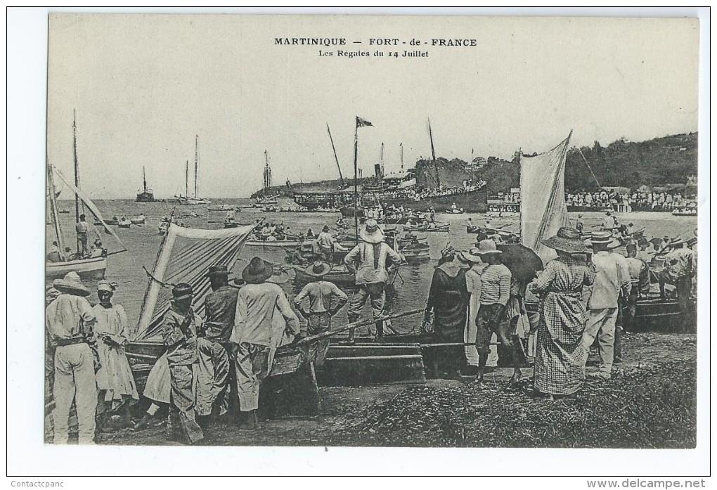 FORT De FRANCE ( Martinique )  - Les Régates Du 14 Juillet - Fort De France