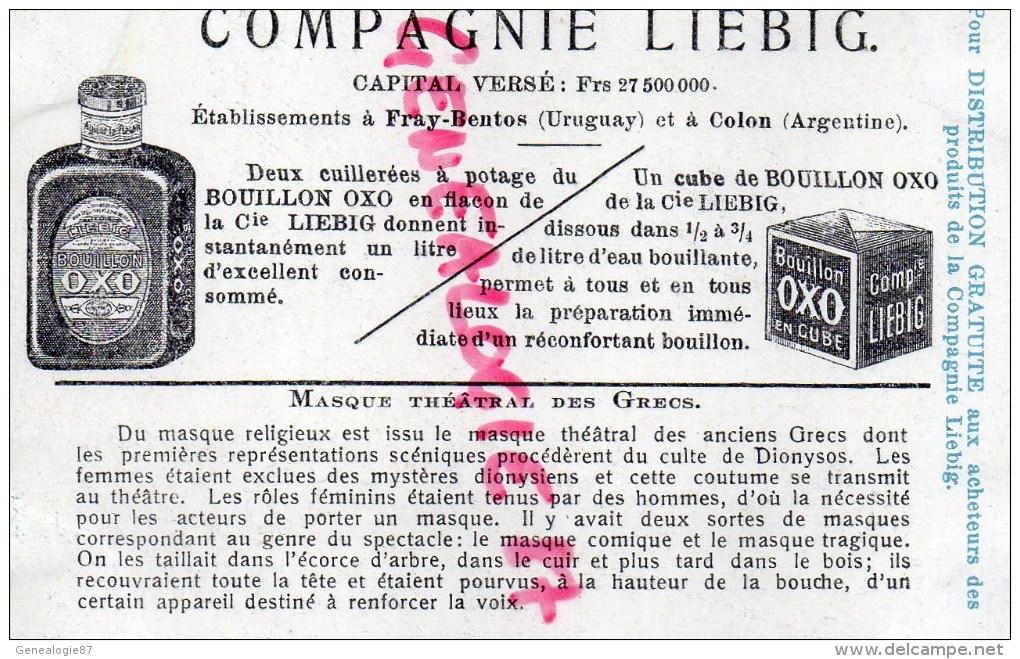 CHROMO LIEBIG -LE MASQUE- GRECE  GRECS -FRAY BENTOS URUGUAY-COLON ARGENTINE - Liebig