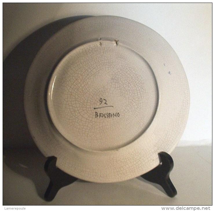 Bassano - Assiette  Au Coq - Rooster Wall Plate- Haan Sierbord - Hahn  (SE408) - Bassano (ITA)