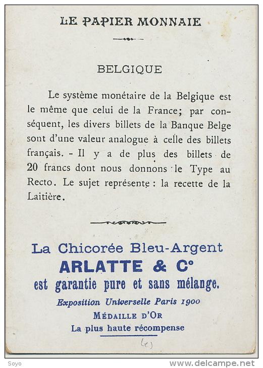 Papier Monnaie Belgique 20 Francs Billet Attelage De Chien Chromo Pub Chicorée Arlatte Cambrai - Monnaies (représentations)