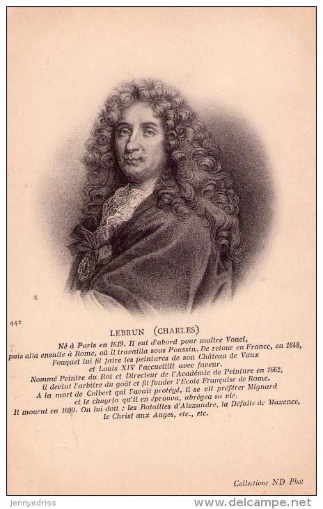 CHARLES  LE BRUN   1619 - 1690  , Pittore  , Arredamento E Decorazione  Della  Reggia  Versailles,  Francia  * - Artisti