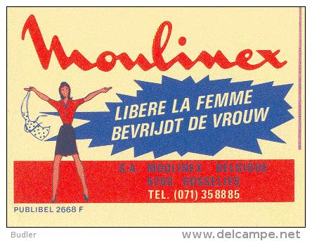 PUBLIBEL 2668°: (MOULINEX) : VROUW,FEMME,WOMAN,GOSSELI ES, - Stamped Stationery