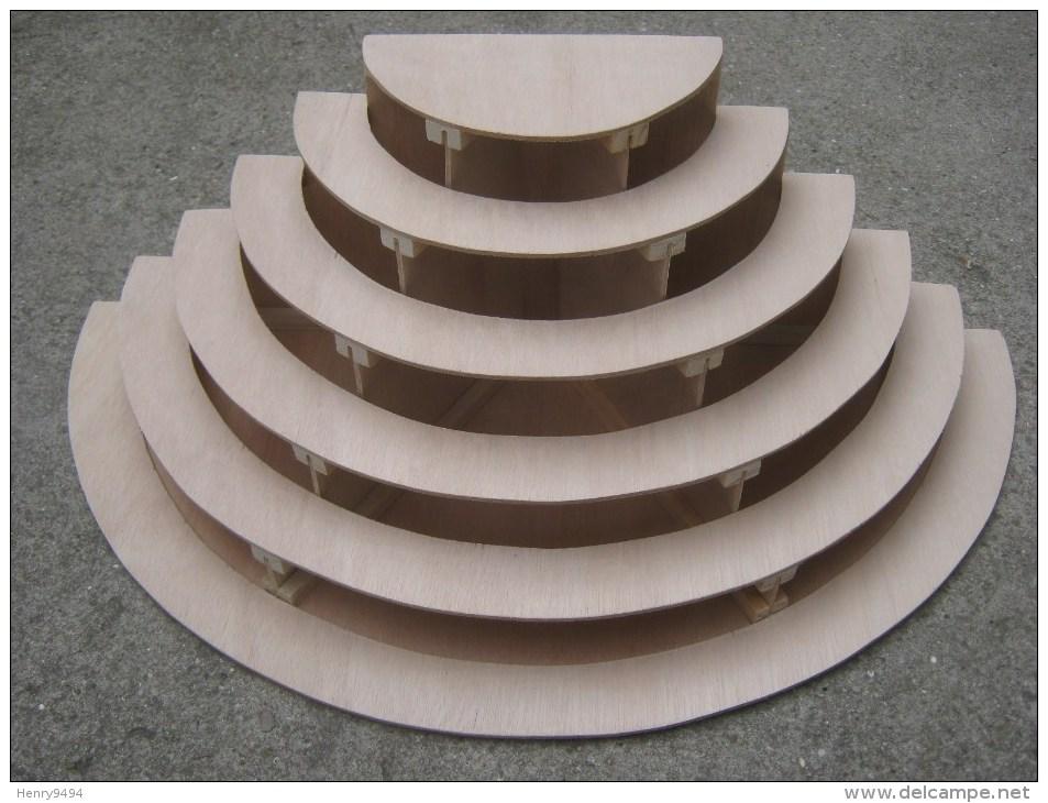 PRESENTOIR A ETAGES ETAGERE BOIS GATEAU PORCELAINE MINIATURE PARFUM VITRINE DISPLAY CABINET CASE - Furniture