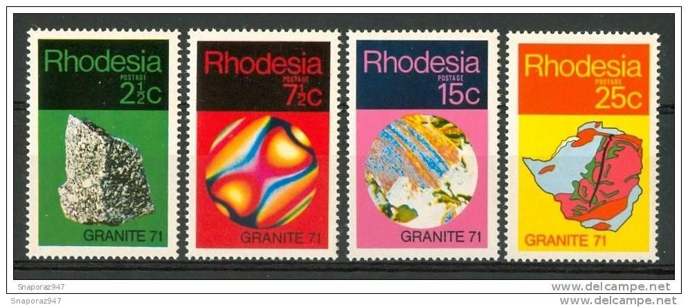 1971 Rhodesia Minerali Minerals Minèraux MNH** Fo180 - Minerals