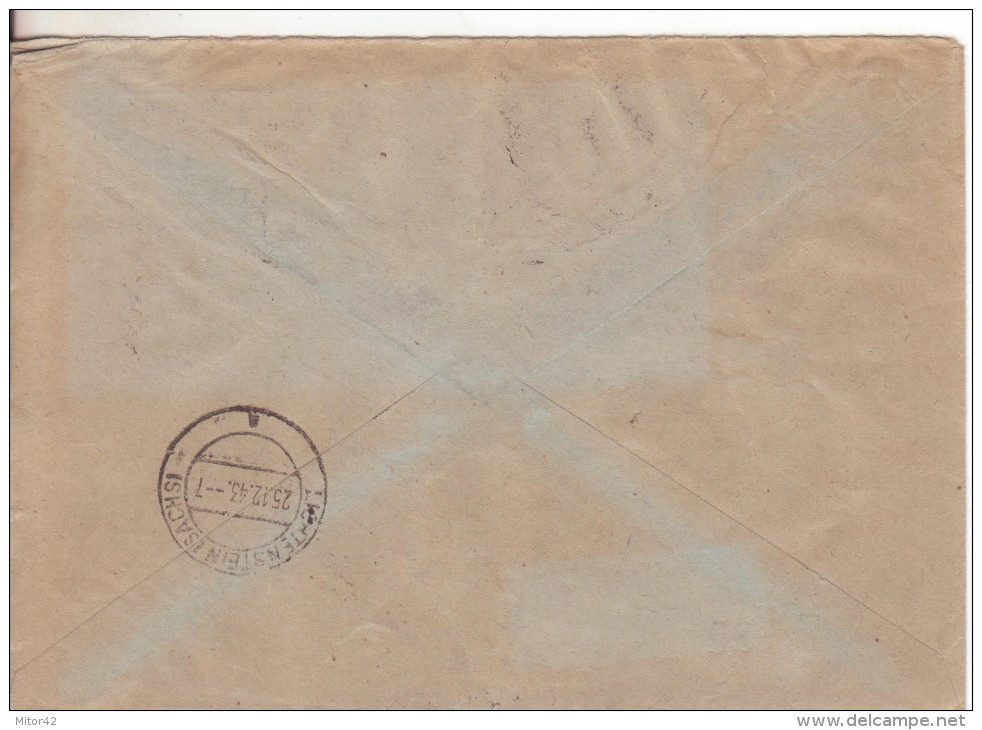 7-Germania Reich-Busta Affrancata 1p.(x2)+3p.(x5)+4p+5p.+16 P. Hitler-v.23.12.1943-arriv O 25.12.1943 (giorno Di Natale) - Briefe U. Dokumente