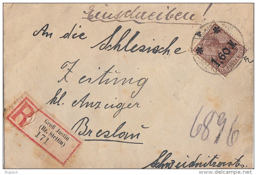 DR R-Brief EF Minr.154 Groß Justin 28.9.21 - Deutschland