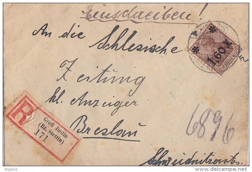 DR R-Brief EF Minr.154 Groß Justin 28.9.21 - Briefe U. Dokumente
