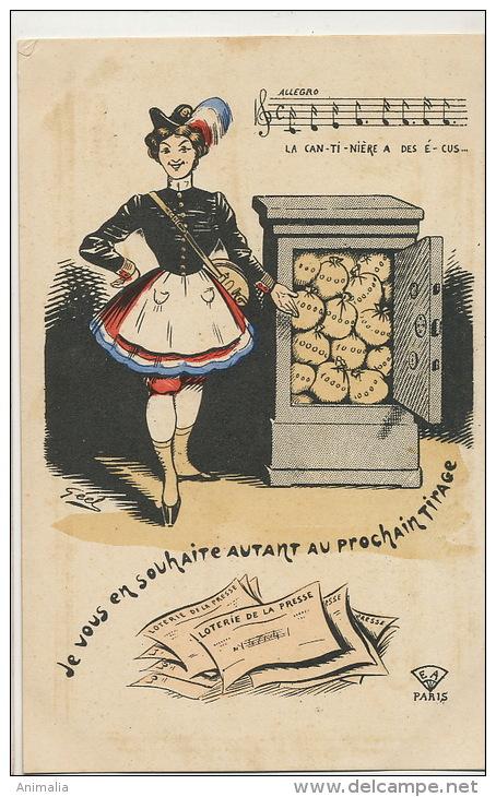 Loterie De La Presse Illustration Par Geel La Cantiniere A Des Ecus Or Coffre Fort - Autres