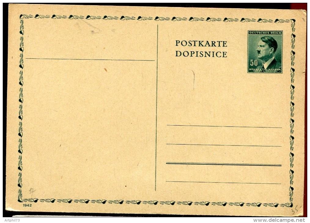 69297 - Entier Postal Carte Postale  Du N° Yvert 80, Neuve, SUP - Böhmen Und Mähren