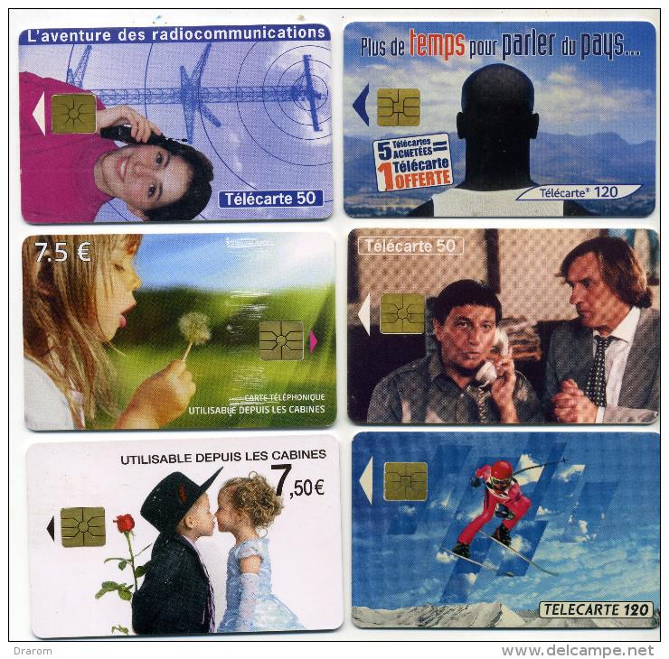 Lot 6 Télécartes Utilisées Dont 1 100000 Ex (lot 5) - Télécartes
