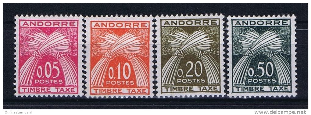 Andorre Fr. Mi Taxe 42 - 45  , MH/* - Portomarken