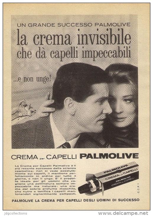 # PALMOLIVE HAIR CREAM, ITALY 1950s Advert Pubblicità Publicitè Reklame Crema Capelli Fijador Creme Cheveux Creme Haar - Unclassified