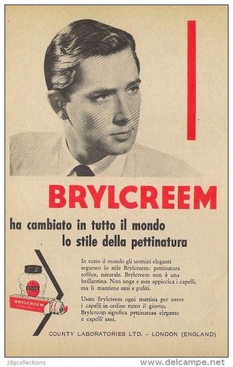 # BRYLCREEM HAIR CREAM, COUNTY LONDON 1950s Advert Pubblicità Publicitè Reklame Crema Capelli Fijador Creme Cheveux Haar - Perfume & Beauty