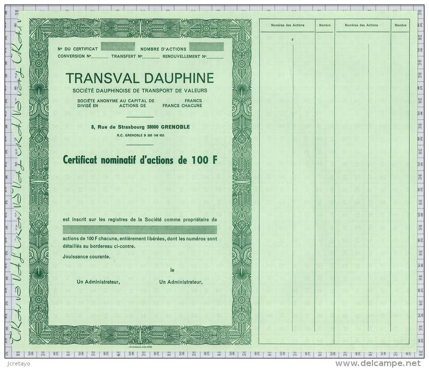 Sté Dauphinoise De Transport De Valeurs, Transval Dauphine à Grenoble (Blanquette) - Transports