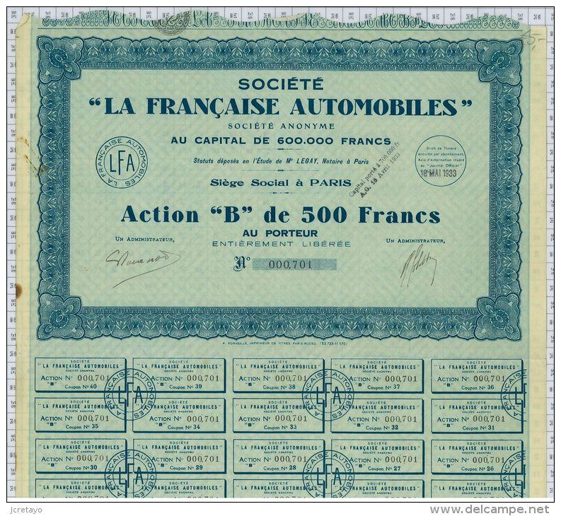 Sté La Française Automobiles - Transports