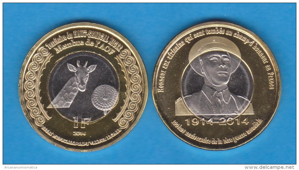 MALI  1 FRANCO 2.014 2014 Bimetálica  SC/UNCirculated    VERY VERY RARE!!!!  T-DL-10.778 - Mali (1962-1984)
