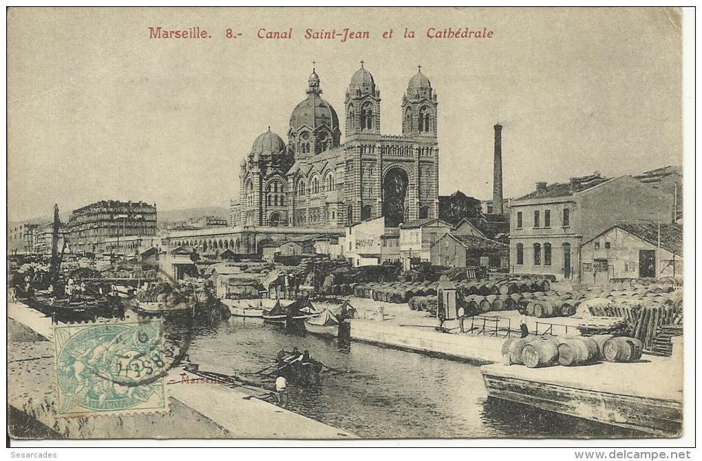 MARSEILLE, CANAL SAINT-JEAN ET LA CATHEDRALE, Nº8 - Joliette