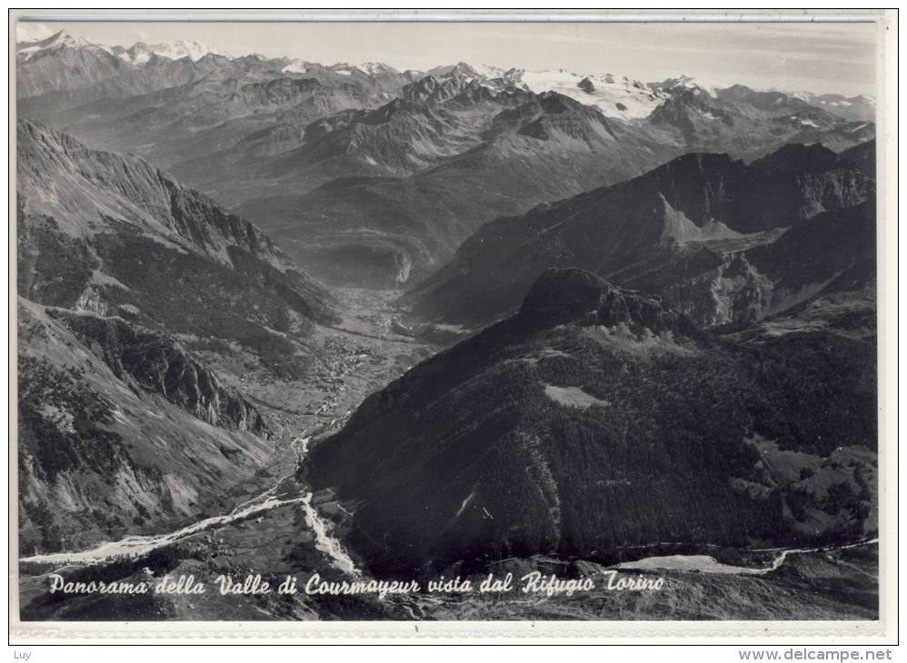 Courmayeur - Panorama  Della  Valle  Di  Courmayeur  Vista  Dal  Rifugio  Torino - 1958 - Italy