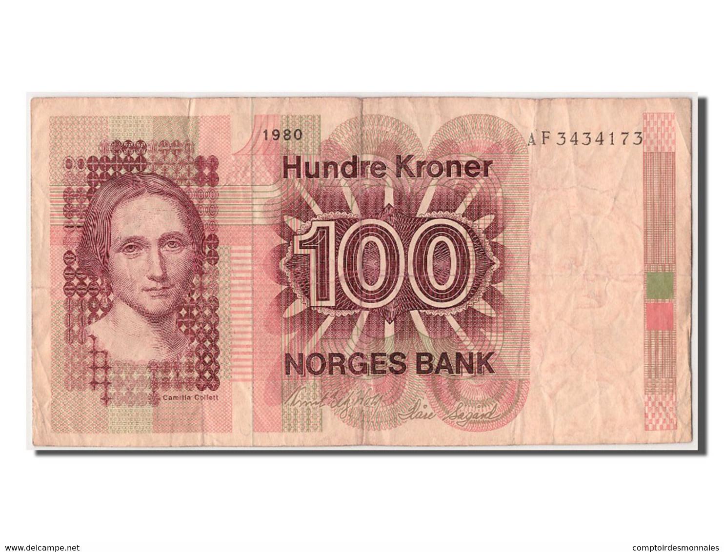 [#303013] Norvège, 100 Kroner Type Camilia Collett - Norvegia