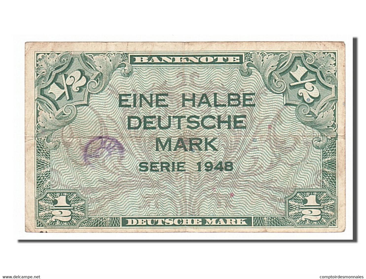 [#154548] Allemagne, 1/2 Deutsche Mark Type 1948 - [ 5] 1945-1949 : Occupation Des Alliés