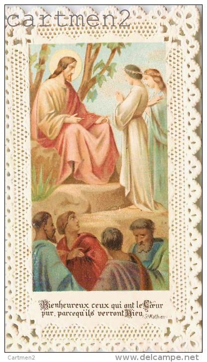 IMAGE PIEUSE A DENTELLE JESUS RELIGION CANIVET SANTINI CHOCOLAT GUERIN-BOUTRON - Andachtsbilder