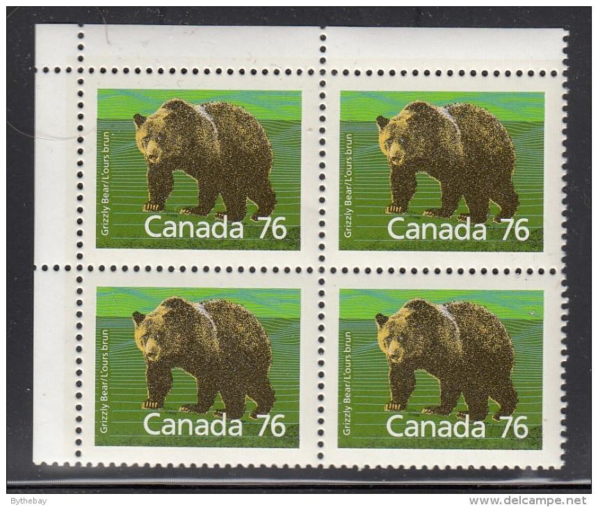Canada MNH Scott #1178c 76c Grizzly Bear, Perf 13.1, Upper Left Corner Blank As Issued - 1952-.... Règne D'Elizabeth II