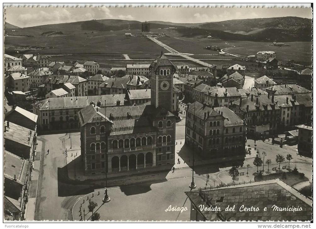 ASIAGO (VICENZA) VEDUTA DALL´ALTO  DEL CENTRO E MUNICIPIO   -FG - Vicenza
