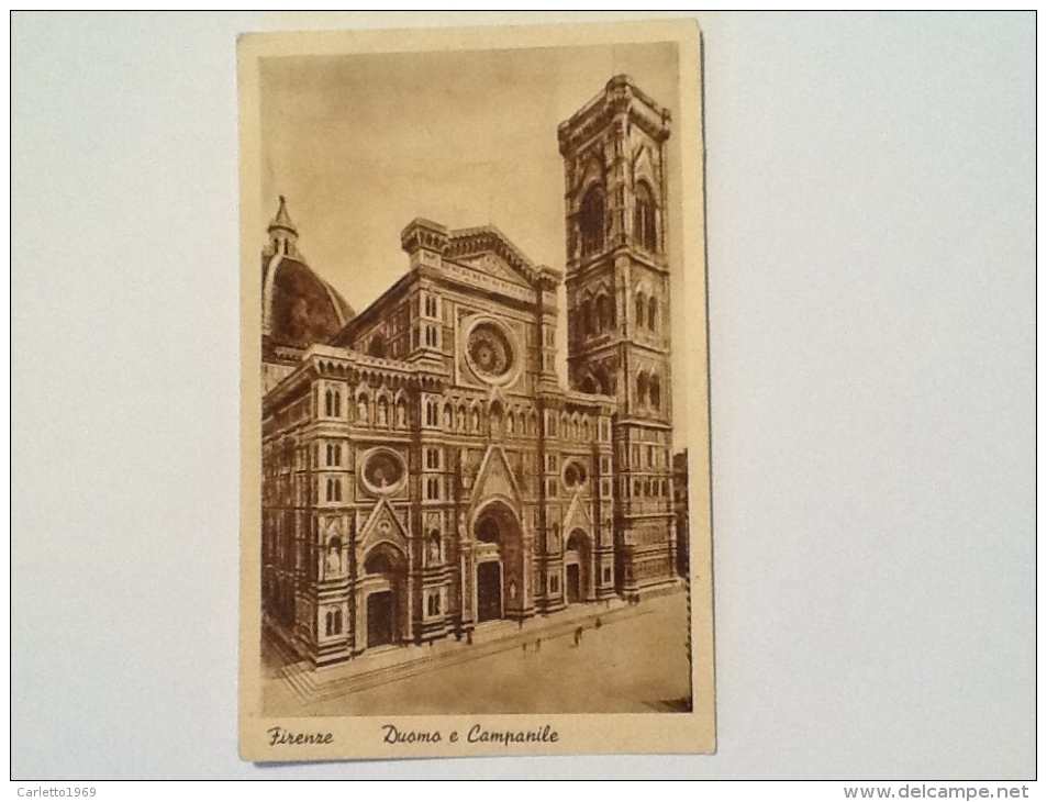 FIRENZE DUOMO E CAMPANILE NON VIAGGIATA -23-- - Firenze