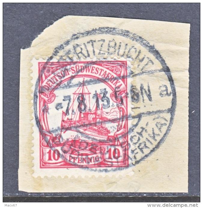 Germany South West Africa  28   (o)   Wmk.  LUDERITZBUCHT   Type III  Cd. - Colony: German South West Africa