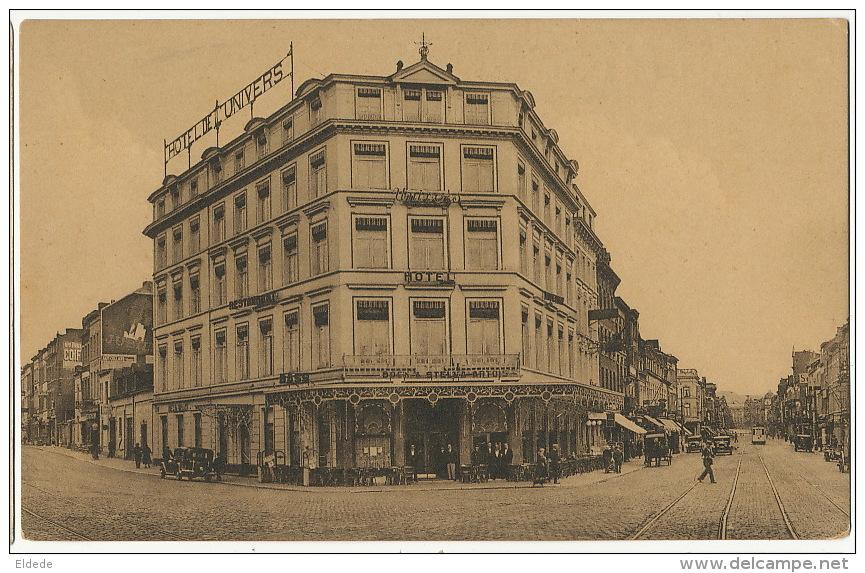Liege Guillemins Face Gare   Hotel De L' Univers Ernest Louart  Edit A. Montmorency Tramway Tram - Liege