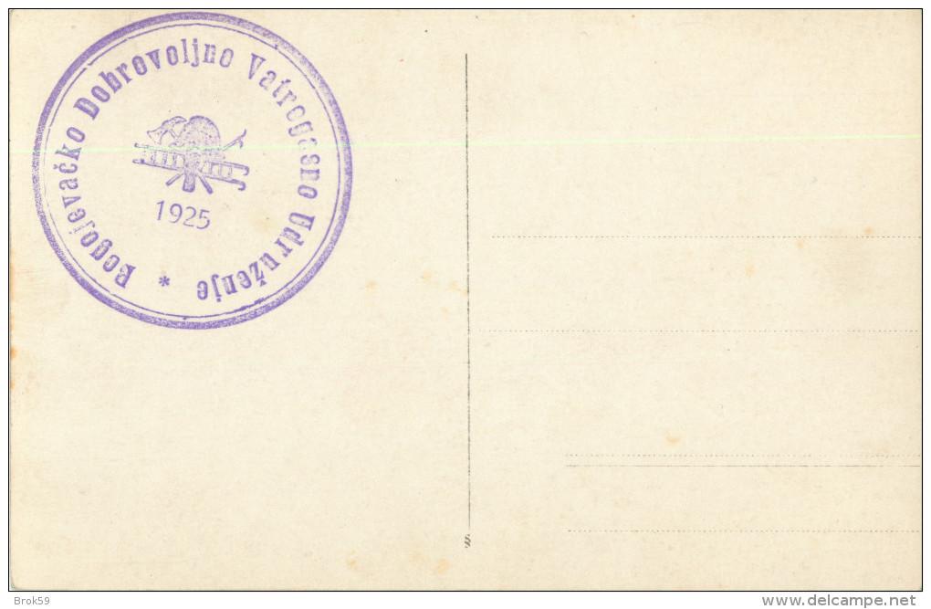 BOGOJEVO - FLOOD 1925 - INONDATIONS - RPPC - CARTE PHOTO ( AU VERSO TAMPON  BOGOJEVACKO DOBROVOLJNO VATROGASNO UDRUZENJE - Serbia