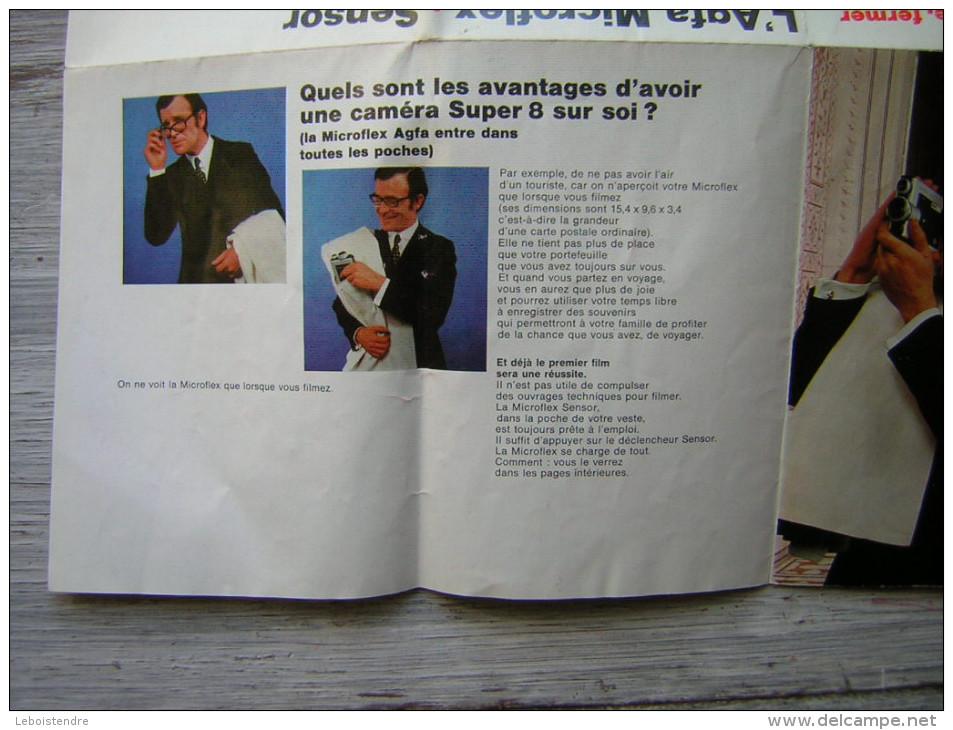 PUB / PUBLICITE 4 VOLETS  L' AGFA MICROFLEX   SENSOR LA PLUS PETITE CAMERA REFLEX SUPER 8 DU MONDE - Reclame