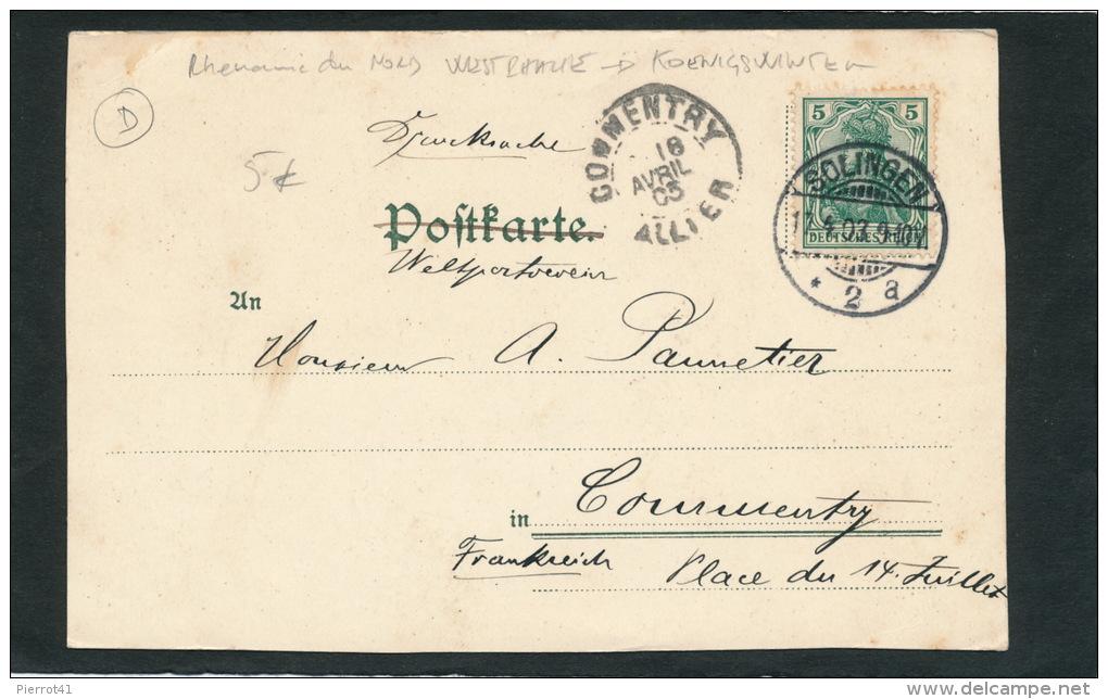 ALLEMAGNE - Gruss Aus HEISTERBACH (1903) - Koenigswinter