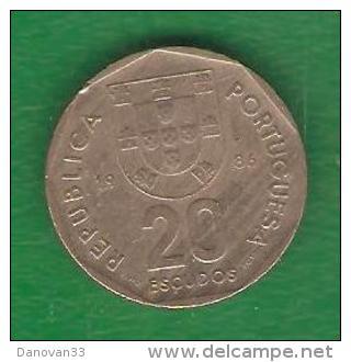 20  Escudos PORTUGAL  1986  (PRIX FIXE)  (BJ6) - Portugal