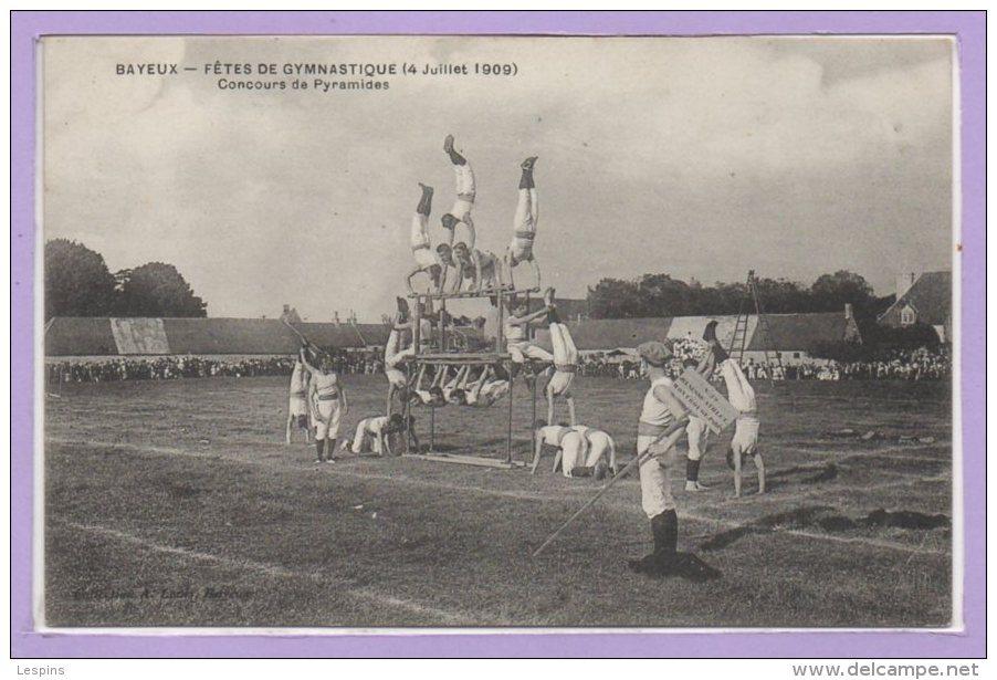 14 - BAYEUX -- Fêtes De Gymnastique ( 4 Juillet 1909 -- Concours De Pyramides - Bayeux