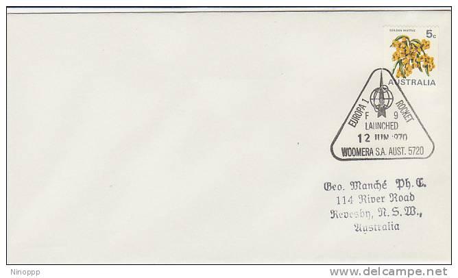Australia-1970 Europa 1 Rocket F9 Commemorative Postmark - Covers & Documents