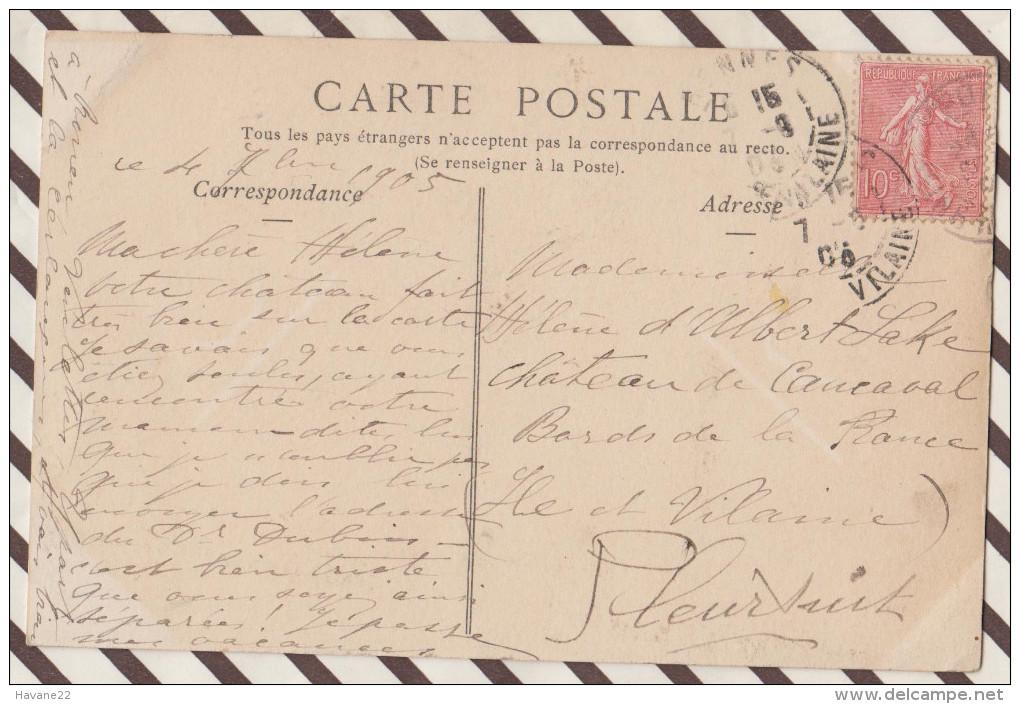 4AF853 YPORT VUE GENERALE 1905    2 SCANS - Yport
