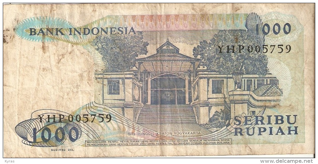 INDONESIE . 1000 RUPIAH . 1987 . RAJA SISINGAMANGARAJA XII - Indonésie