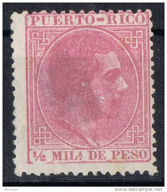 Sello 1/2 Mils PUERTO RICO, Variedad De Impresion, Num 42 * - Puerto Rico