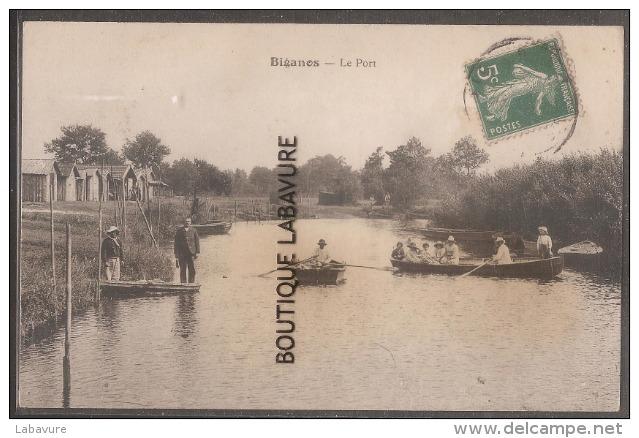 33----BIGANOS---Le Port----Barques -animé - Frankreich