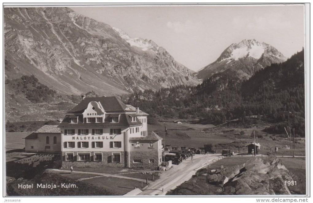 AK - Maloja - Hotel Maloja Kulm 1931 - GR Grisons