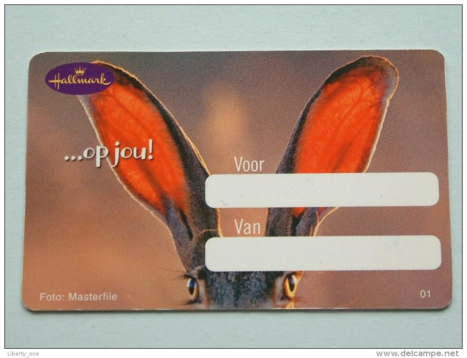 Hallmark ( 01 ) Gift / Wens Card / Verliefd Tot Over Mijn Oren ( Formaat En Materiaal Idem Als Bankkaart ) !! - Cartes Cadeaux