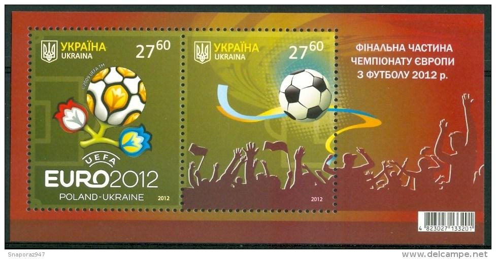 2012 Ucraina Ukraina Coppa UEFA Calcio Football Block MNH** -Fiog58 - Fußball-Europameisterschaft (UEFA)