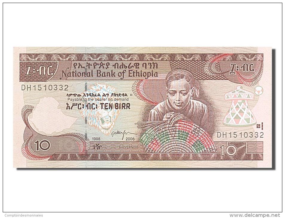 [#254585] Ethiopie, 10 Birr, Type 1997 - Ethiopie