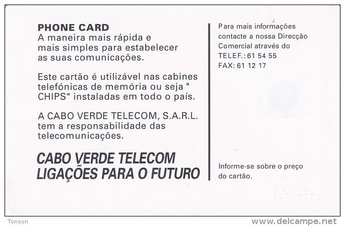 """Cape Verde,CPV -21, """"Tabanka"""" 1999, 2 Scans. - Cap Vert"""
