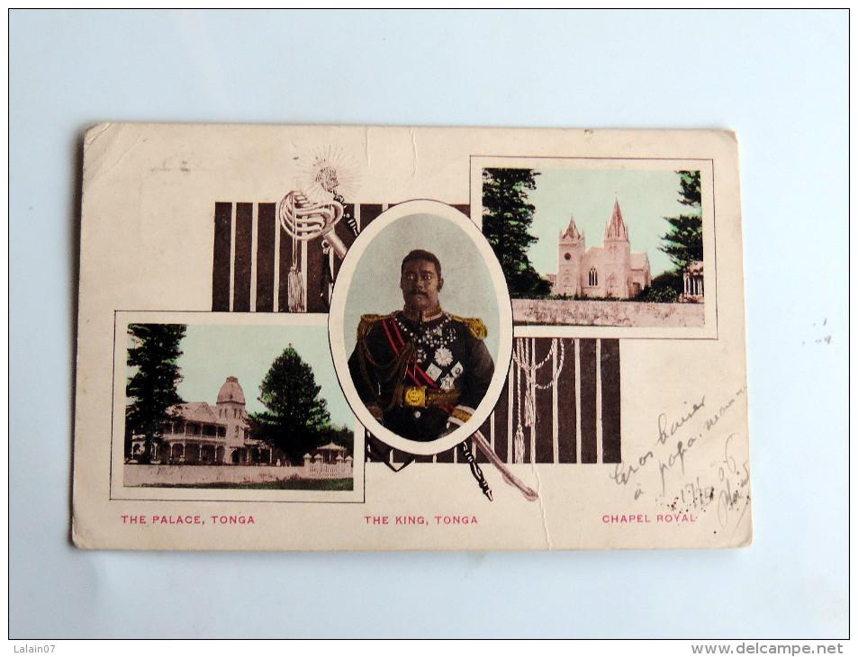 Carte Postale Ancienne : TONGA : The King , The Palace, Chapel Royal, En 1906, TRES RARE - Tonga