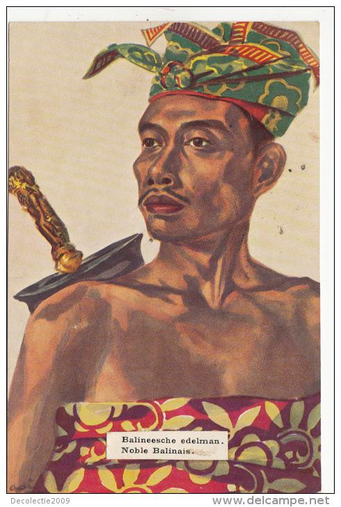P3323 Balineesche Edelman  Indonesia Paint Types  Scan Front/back Image - Indonesien
