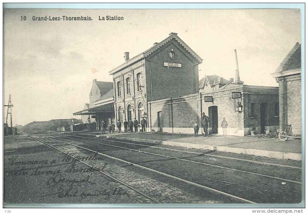 Cpa  Grand Leez  Thorembais   Gare     Laflotte - Eghezée