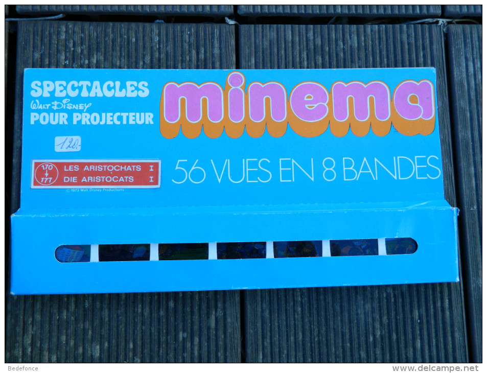 Minema - Coffret 56 Vues En 8 Bandes, N° 170 à 177 - Spectacles Walt Disney - Les Aristochats I - 1973 - Proyectores De Cine